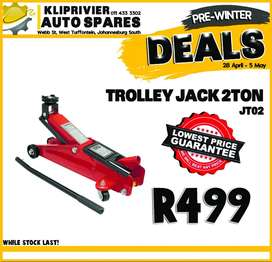 Trolley Jack 2 Ton ONLY R499 at Kliprivier AUTO Spares!