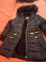 Пальто зимнее на девочку 98-104 см, на 3-4 года