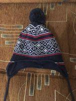Осенняя шапка для мальчишки (на 1 годик)