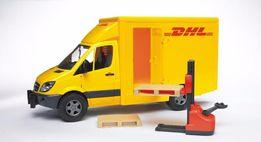 Bruder игрушка - МВ Sprinter курьер. доставка грузов с погрузч. 02534