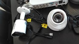 Kompletny Zestaw Monitoringu 6 Kamer HD 1 MPX Detekcja Ruchu Podgląd