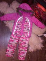 Лыжный костюм на 4-6 лет рост 110см зимний комбинезон куртка + штаны