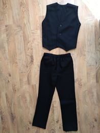 Komplet spodnie kamizelka eleganckie134, 140,146