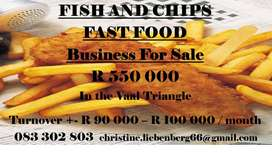 Fish and Chips Franchise Business for sale in the Vaal Triangle