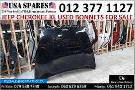 Jeep Cherokee 2.4/3.2 KL 2013-21 used bonnets for sale