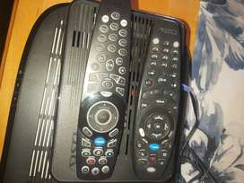 2 x Explora decoders with remotes, dish and all cables.