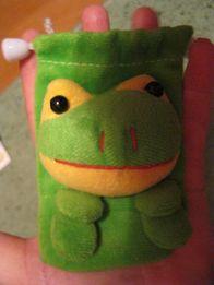 детская игрушка плюш зеленая лягушка как сумочка кошелек чехольчик