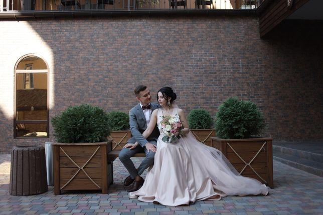 Фата невесты пудрового цвета. Не венчанная.