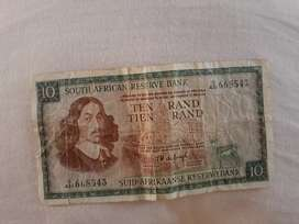 Bank note from 1961 worth the sum of ten thousand