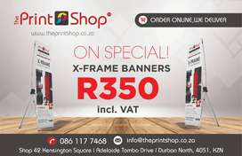 X-Frame Banners on Special - Only R350