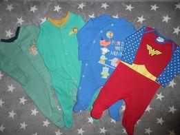 Пакет фирменных вещей на мальчика 0-3 месяцев Бодики Человечки