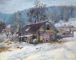 Розпродаж колекції картин! Олійний живопис, зимовий пейзаж