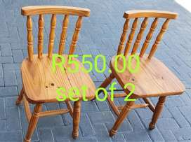Two Wooden Chairs for sale in Port Edward