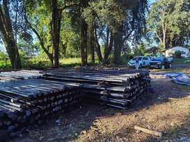 creosote and CCA treated gum poles