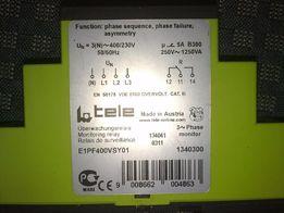 реле контроля напряжения 3фазы tele e1pf400vsy01