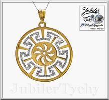 Złoty duży wisiorek - złoto białe rodowane Au 585 Jubiler Tychy
