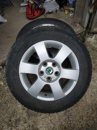 Колеса Skoda Octavia A5 диски 5x112 r15 зимняя резина 195 65 15 Fulda
