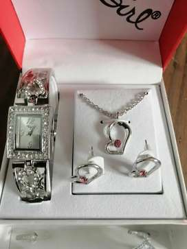 Bad Girl Cupid watch and necklace set