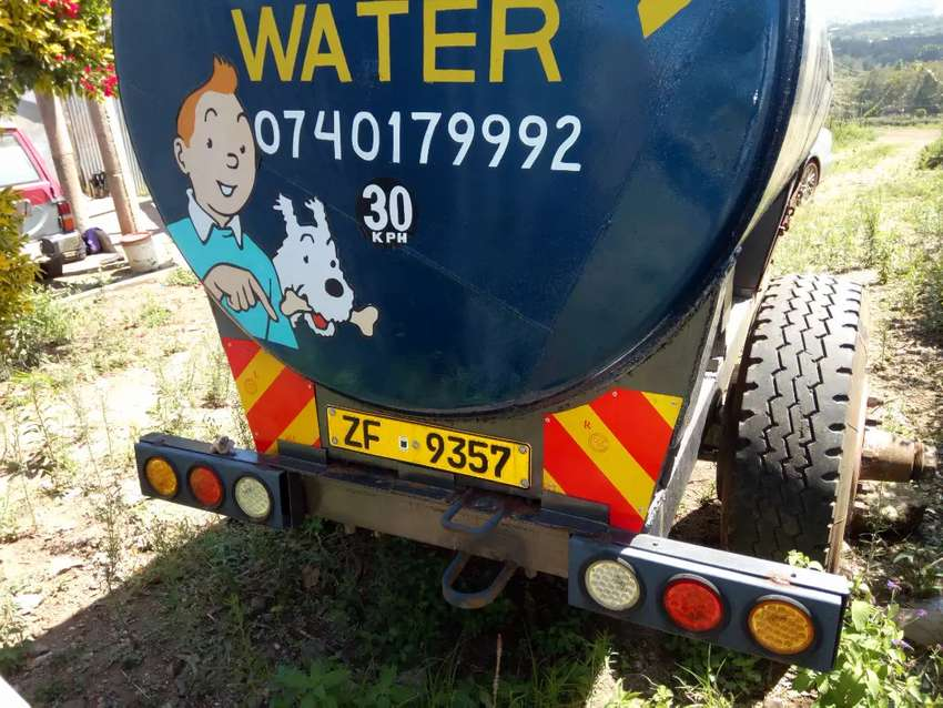 Water tanker trailler bowser for tractor  5000 litres 0