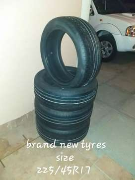 New 225/45R17 tyres