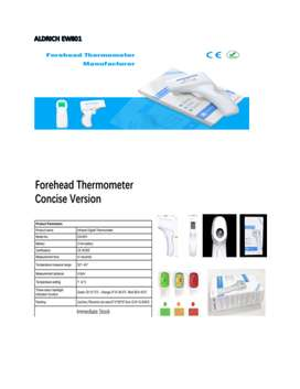 Infra- Red Thermometers - Model - EW 801