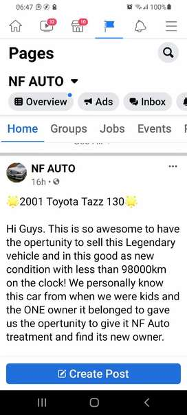 ONE owner Toyota Tazz 130