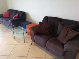 Couch set, 3, 2 & 1 seater
