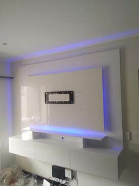 Floating modern gloss tv stands