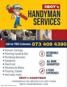 Drywall, Partitions, Painting, Tiling