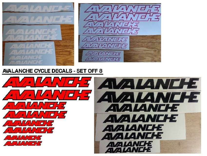 Avalanche bicycle frame stickers decals graphics kits 0