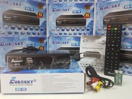 Цифровой DVB-T2 тюнер приставка ресивер Т2 EuroSky ES-18 IPTV YouTube