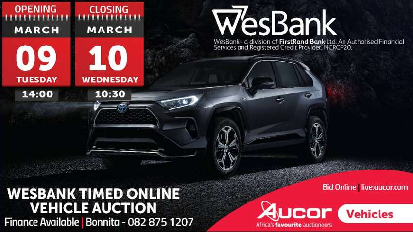 WesBank Timed Online Vehicle Auction