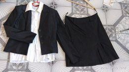Żakiet, spódnica, bluzka r 40