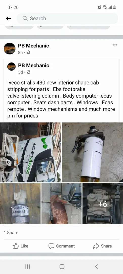 Striping parts for iveco stralis. New interior shape. Cab striping