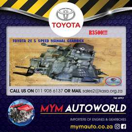 MYM IMPORTER OF USED TOYOTA 2E 5 SPEED MANUAL GEARBOXES