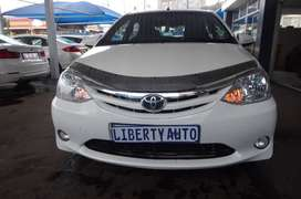 2015 Toyota Etios 1.5 XS Hatch 60,000km Manual Transmission, Front and