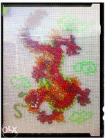 """""""Огненный дракон"""",ручная работа,картина на стену"""