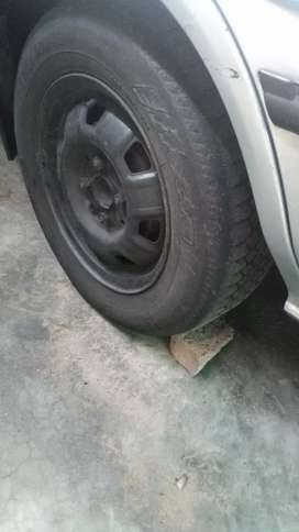Toyota 13inch steelies with tyres
