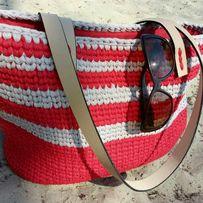 Вязаная сумка-шоппер
