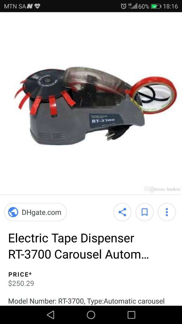 Electric tape dispensers x3 0