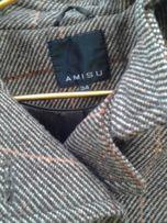 Стильное драповое пальто AMISU р.34