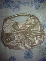 Сумка,подкладка сумки+фурнитура золотая+ремень.Перламутров.нюд.Большая