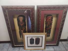 African mask boxed frames