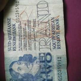 Mandela coins and old notes