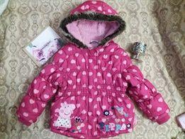 Теплая курточку на девочку 2-3 года, сост.оч.хорошее
