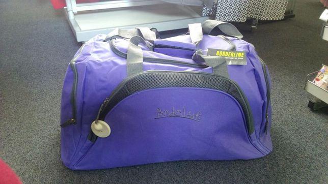 Torba podróżna duża dwa kolory fiolet granat nowa bagaż na podróż Hit Sierakowice - image 3