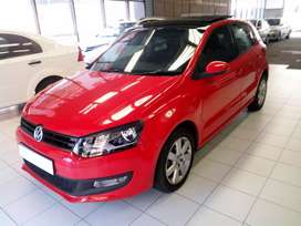 A VW Polo 6 1.6 Comfortline Red in color 2015 model