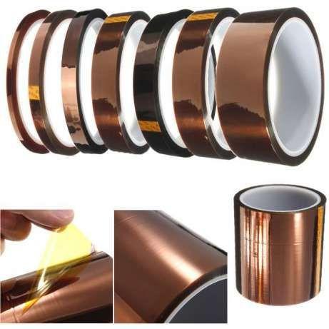 Скотч термоскотч Kapton 60мк 5-300мм 33м Koptan каптонт термостойкий Черкассы - изображение 2