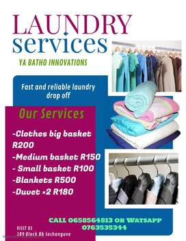 Drop off Laundry services