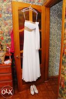 Продам летнее свадебное платье в греческом стиле. Торг +подарок!